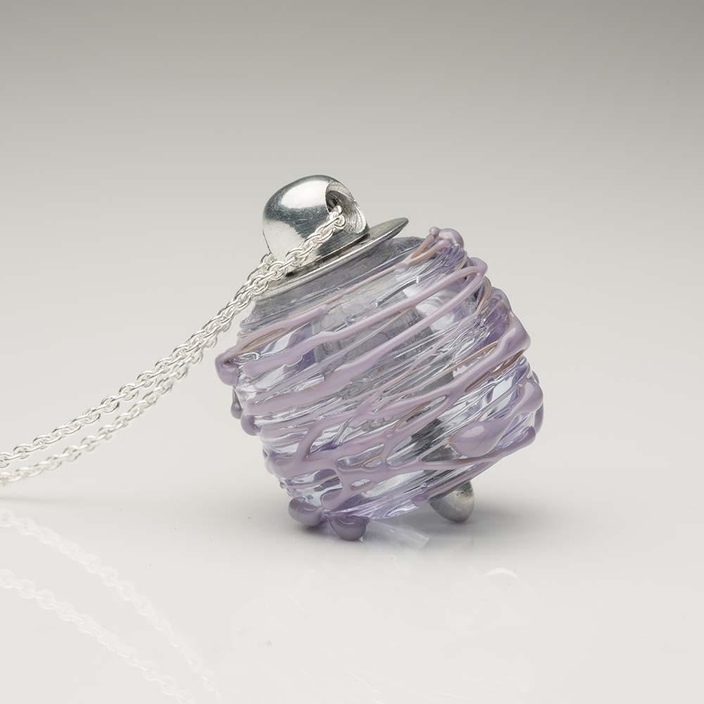 Cremation Jewelry Venetian Murano Glass Keepsake Pendant – Translucent Lavender - Keepsake Jewelry | Treasured Memories