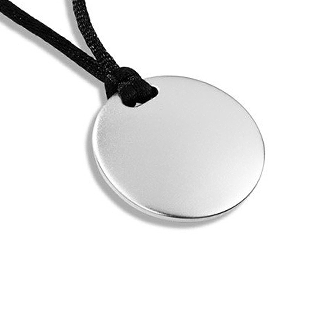 Cremation Pendant Sterling Silver Disk Keepsake Necklace - TM Keepsake | Treasured Memories Cremation Jewelry