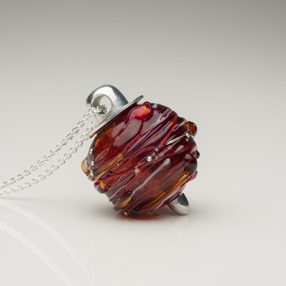 Cremation Jewelry Venetian Murano Glass Keepsake Pendant – Translucent Carmel - Treasured Memories | Keepsake Jewelry