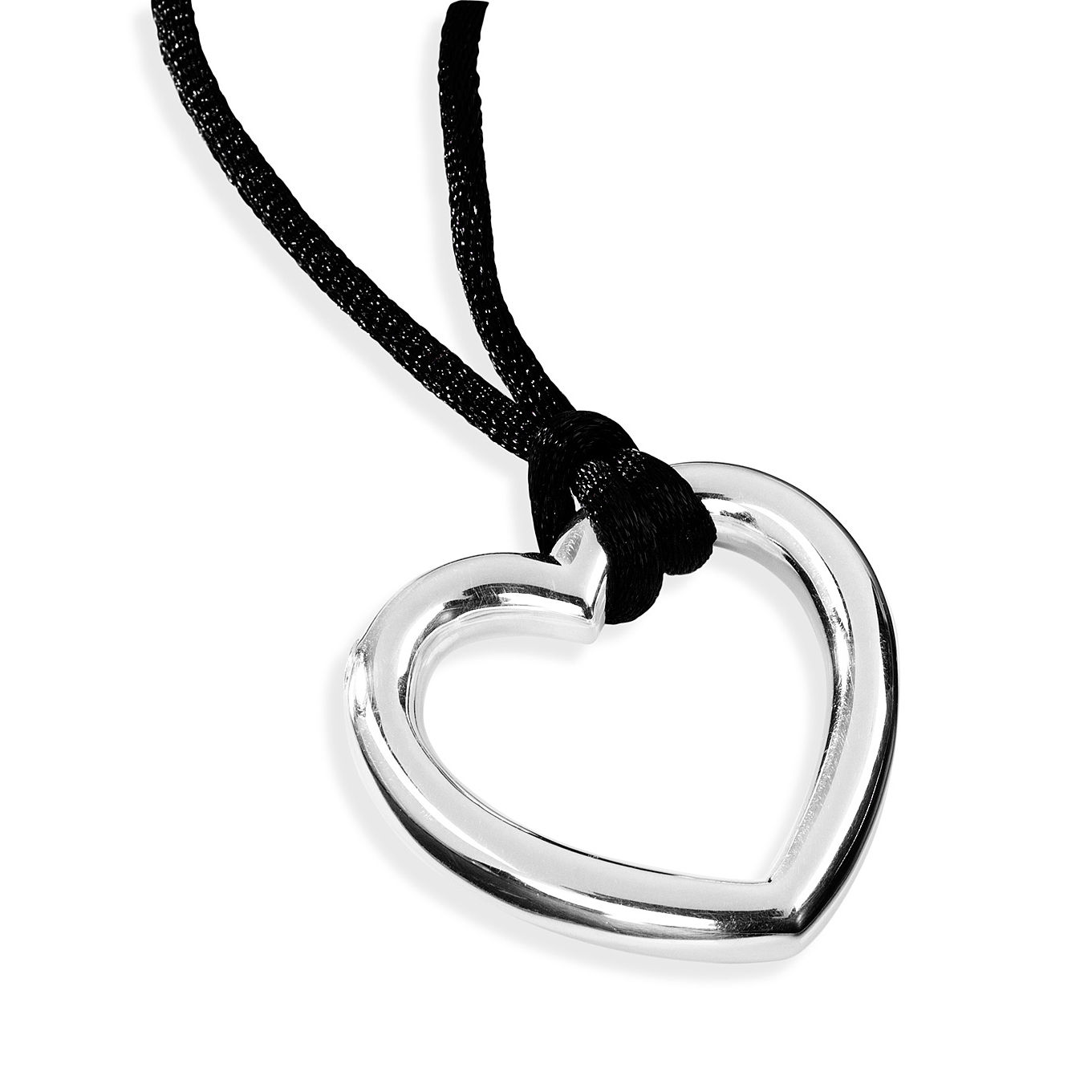 Open Heart Cremation Pendant Sterling Silver Keepsake Necklace - TM Keepsake | Treasured Memories Cremation Jewelry