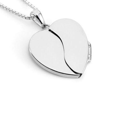 Memorial Hidden Heart Locket Sterling Silver Keepsake Necklace - TM Keepsake | Treasured Memories Cremation Jewelry