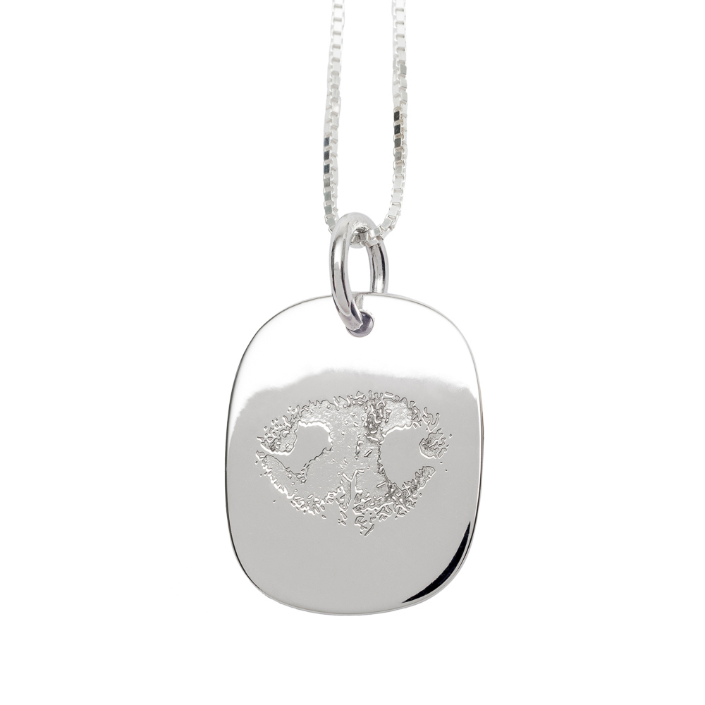 a9ec023d1 Custom Engraved NozyPaws™ Nose-Print Sterling Silver Keepsake Necklace -  Keepsake Jewelry