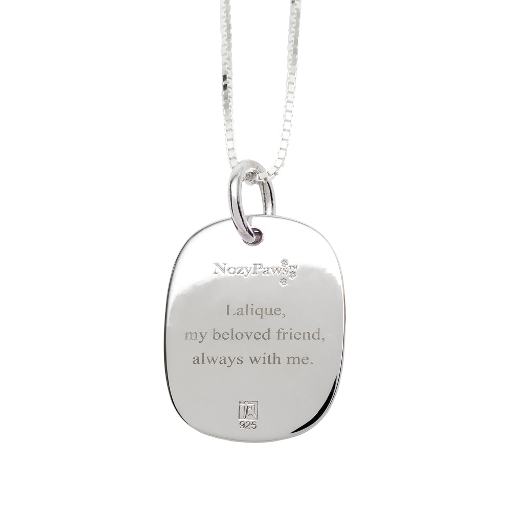 NEW! NozyPaws™ Custom Engraved Paw-Print Sterling Silver Keepsake Necklace - TM Keepsake | Treasured Memories Cremation Jewelry