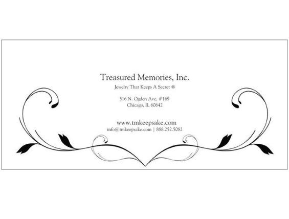 The Treasured Memories® Gift Certificate - TM Keepsake | Treasured Memories Cremation Jewelry