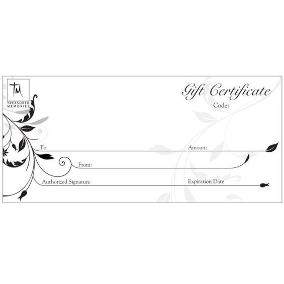 The Treasured Memories® Gift Certificate - TM Keepsake | Treasured Memories Cremation Jewelry