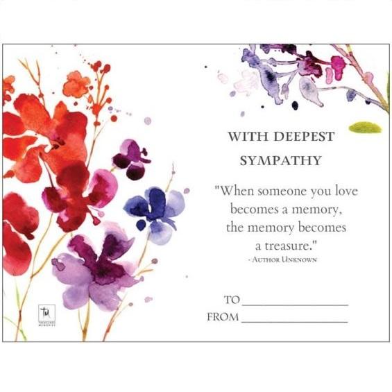 The Treasured Memories® Gift Card - TM Keepsake | Treasured Memories Cremation Jewelry