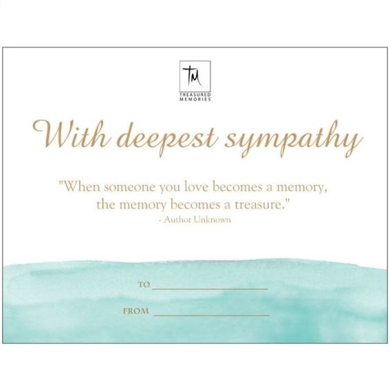 The Treasured Memories® Gift Card - TM Keepsake | Treasured Memories Cremation Jewelry